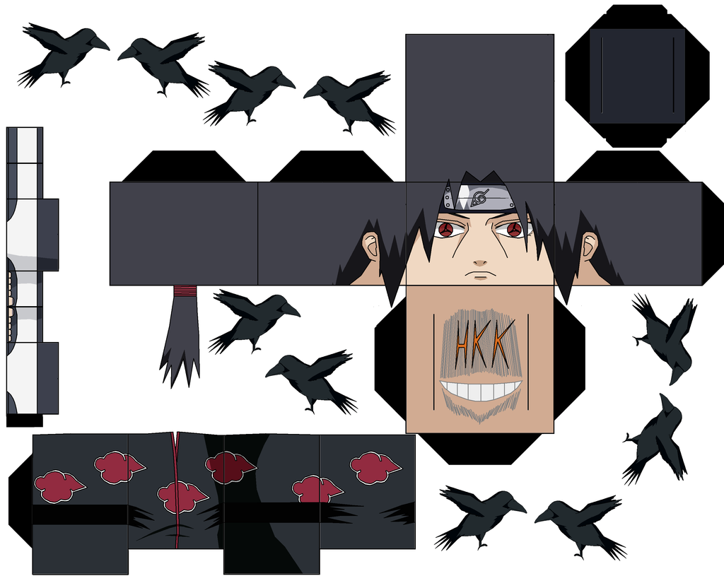 Ichigo Hollow Mask Papercraft Great itachi crow_clone_by_hollowkingking-d5w0n5y (1024×815) | paper