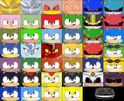 Sonic cubeecraft Set