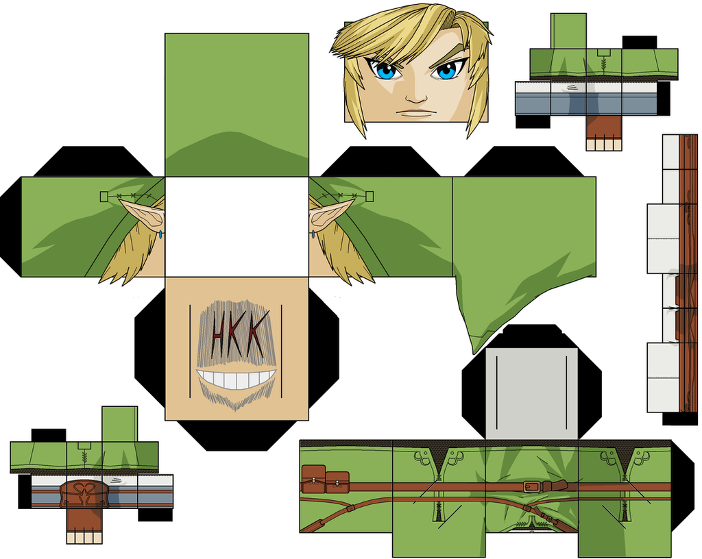 Papercraft Link Template Template Available at Link