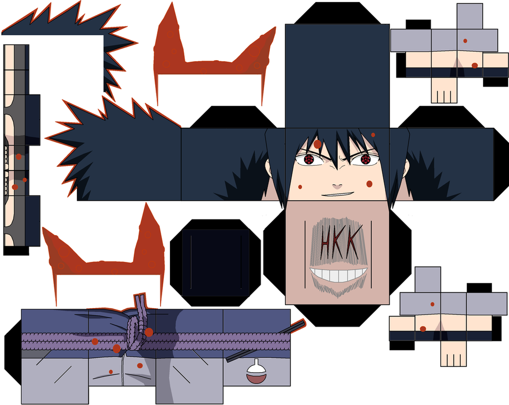 Sasuke Papercraft Kurama Chakra By Hollowkingking