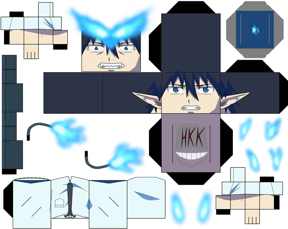 Rin Okumura Partial Demon Form p1 by hollowkingking on ...