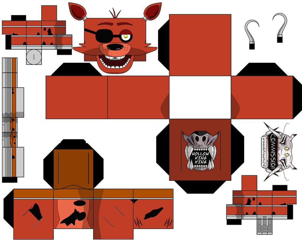 Как сделать маску аниматроника из бумаги