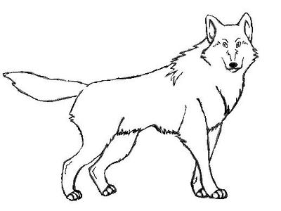 Free Use Wolf Outline XD by thatfrenchgirl on DeviantArt