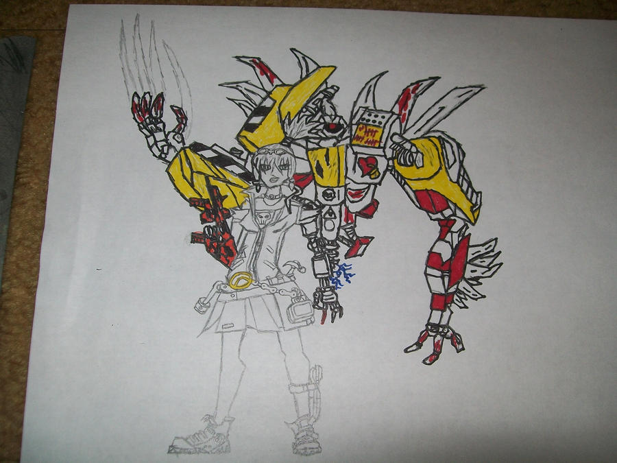 Borderlands 2 Gaige and Deathtrap (WIP) by blackout17 on