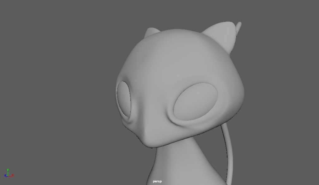 2nd maya modeling test - ITS MEWWWW by JuniorvX