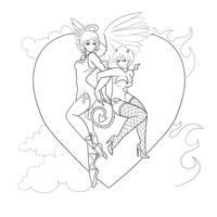 angel devil pinups
