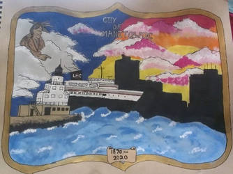 City of Manitowoc 150th logo by luvmizuki