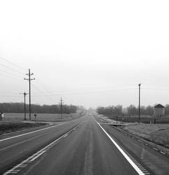 Long, lonely road.
