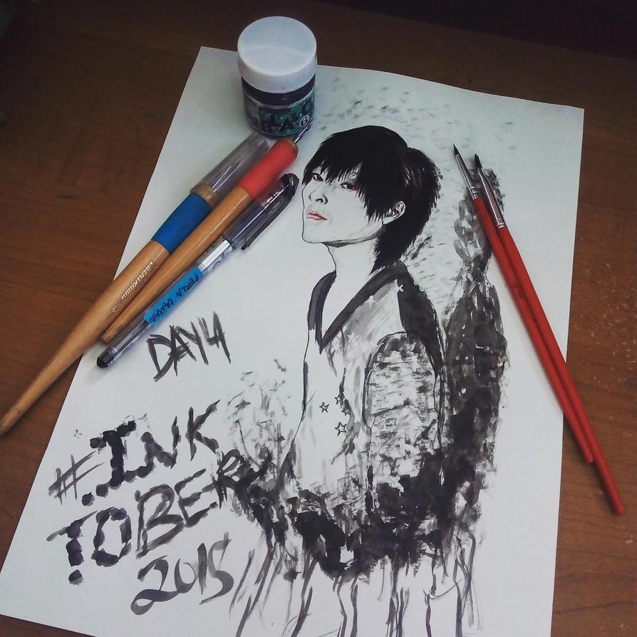 Inktober Day 4 Taniyama Kishou by Whitewolfgirl