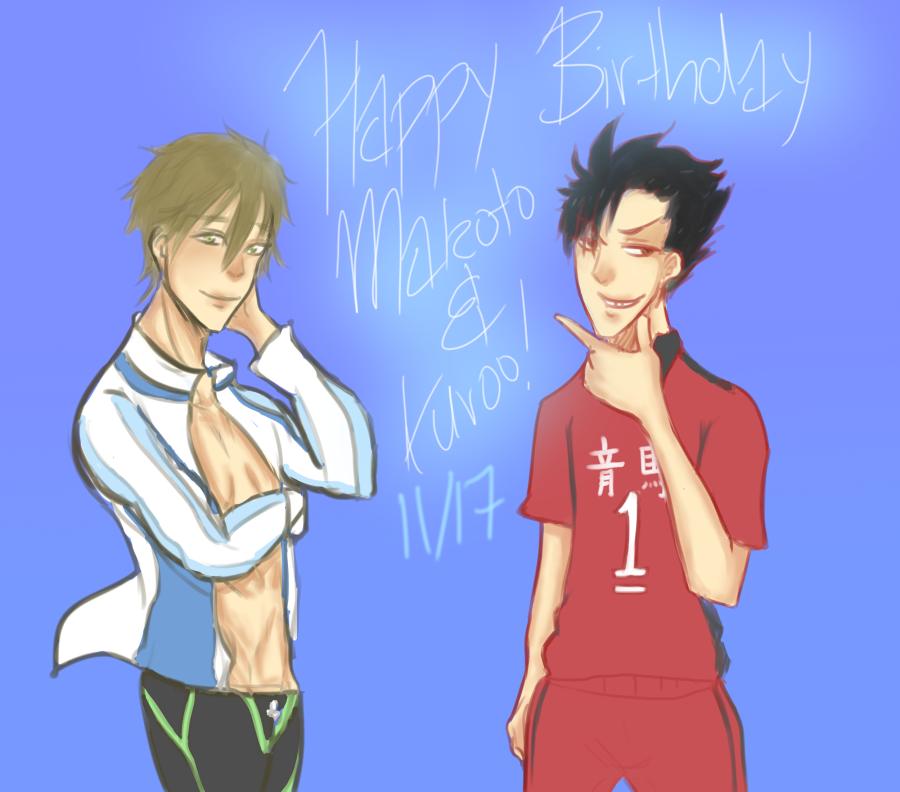 Happy Birthday, Makoto and Kuroo by Whitewolfgirl