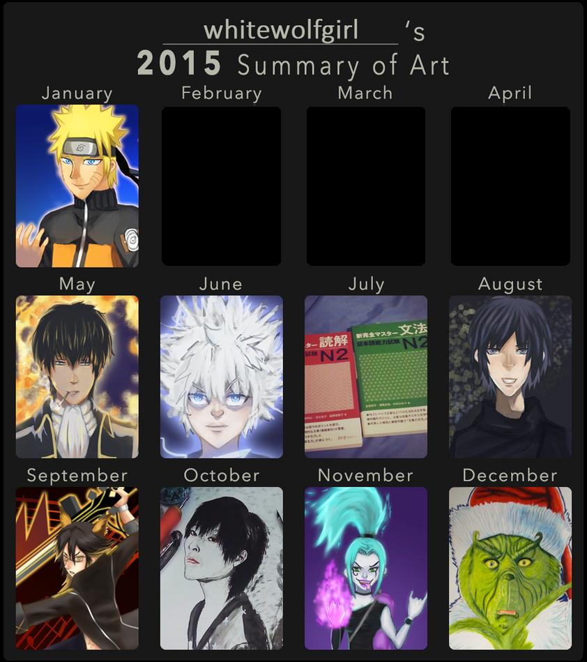 2015 Summary of Art by Whitewolfgirl