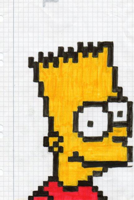 Bart Simpson In Pixel Art By Maudeorium On Deviantart