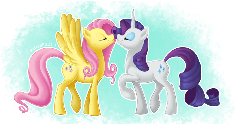 My little pony rarity and fluttershy
