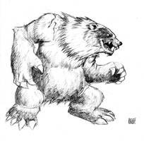 werebear by nanditonasiRONZKIE