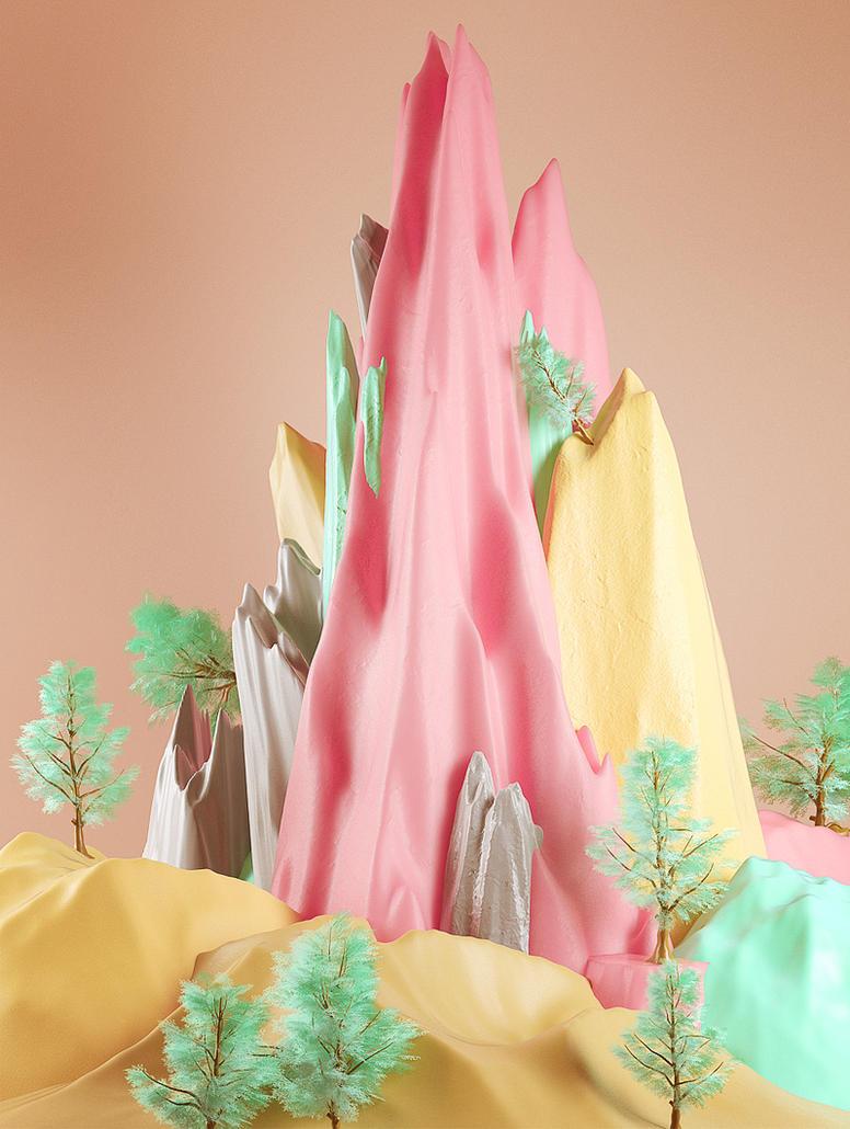 Mountains-yellow by Nio0n