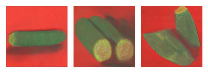 Triptych Zucchini by Tabbie1999