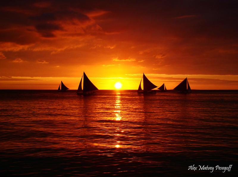 The Sunset of Boracay