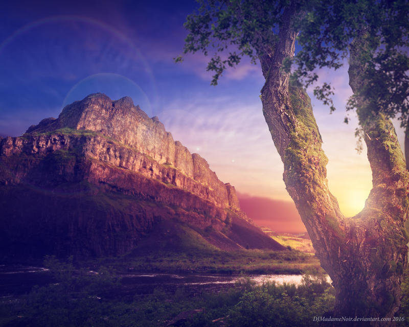 Sunrise Canyon by DJMadameNoir