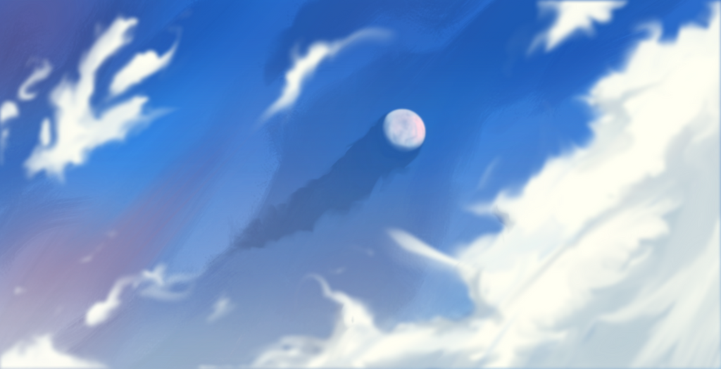 Moon Shadow on the Deep Clouds by HoubleDelix