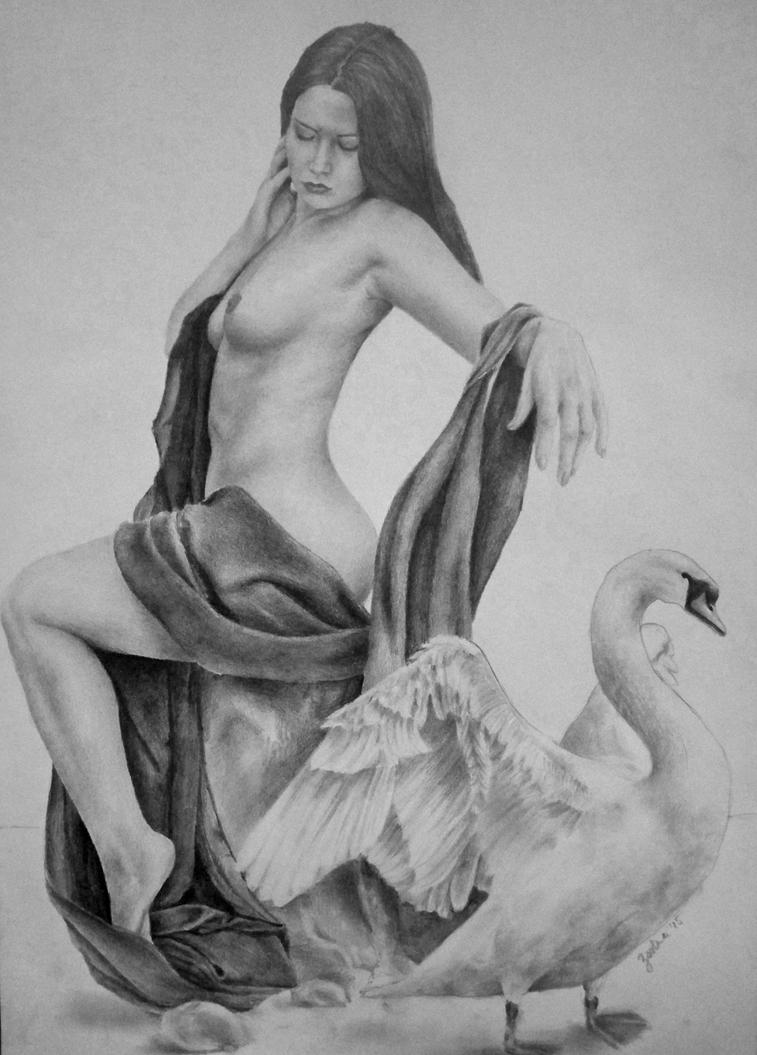 Zeus and Leda by 19ZsErika