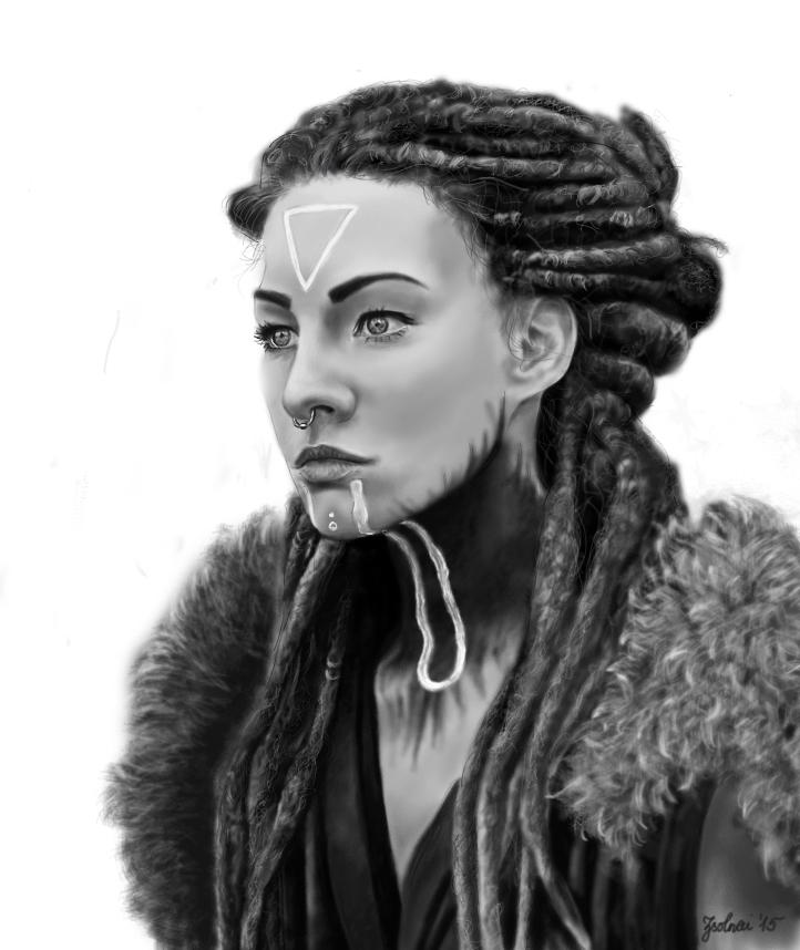 Woman portrait by 19ZsErika