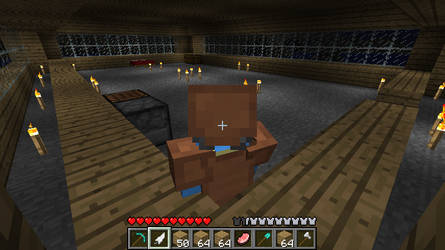 Minecraft - Town Hall Inner by 21eeveevulpix