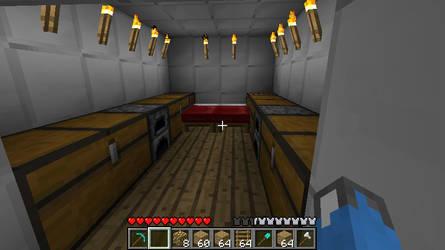 Minecraft - Bomb Shelter Inner by 21eeveevulpix
