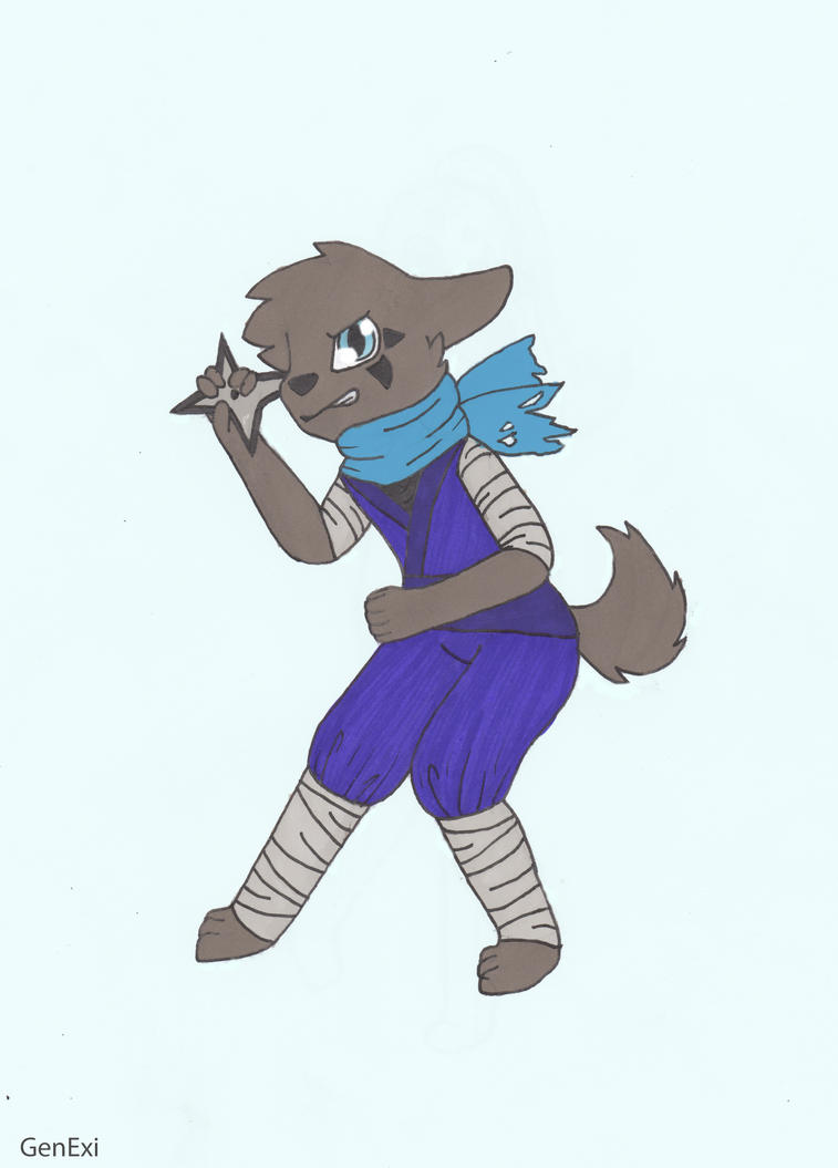 Ninja doggo by GenExi
