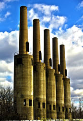 Industrial Stacks. by Ad-Noctum