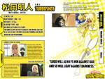 [Bnha Oc][character sheet] Akito Matsuoka