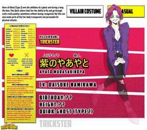 [Bnha Oc][character sheet] Ayato Murasakinoya