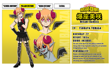 [Bnha Oc][character sheet] Misaki Bakuza