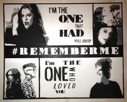 Jessie J And Daley Remember Me Stencil by dannyboib