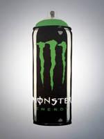 Monster Energy spray paint can by dannyboib