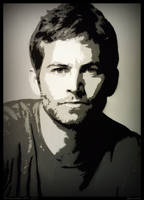 Paul Walker Stencil by dannyboib