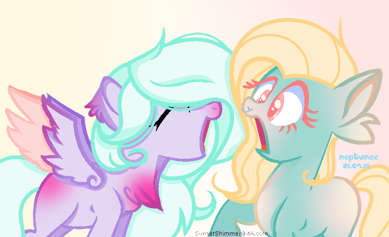 ::MLP:: Drawing for my Oc, and my friend by Fuyus-Sea-Glows