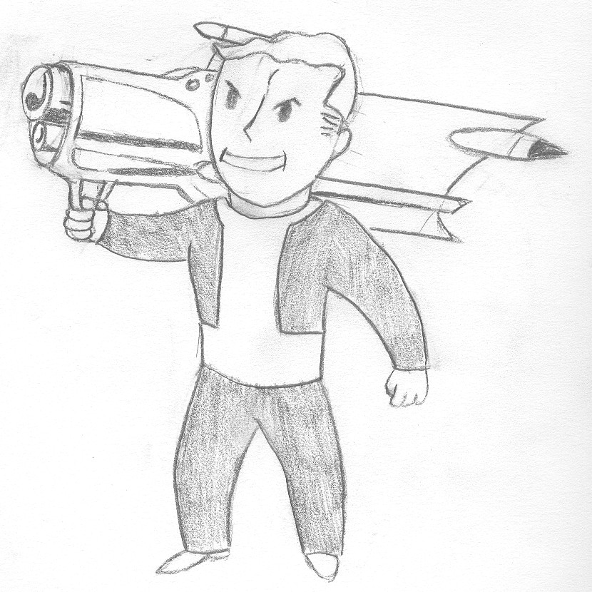 Vault Boy With Gun Vault Boy Big Guns by