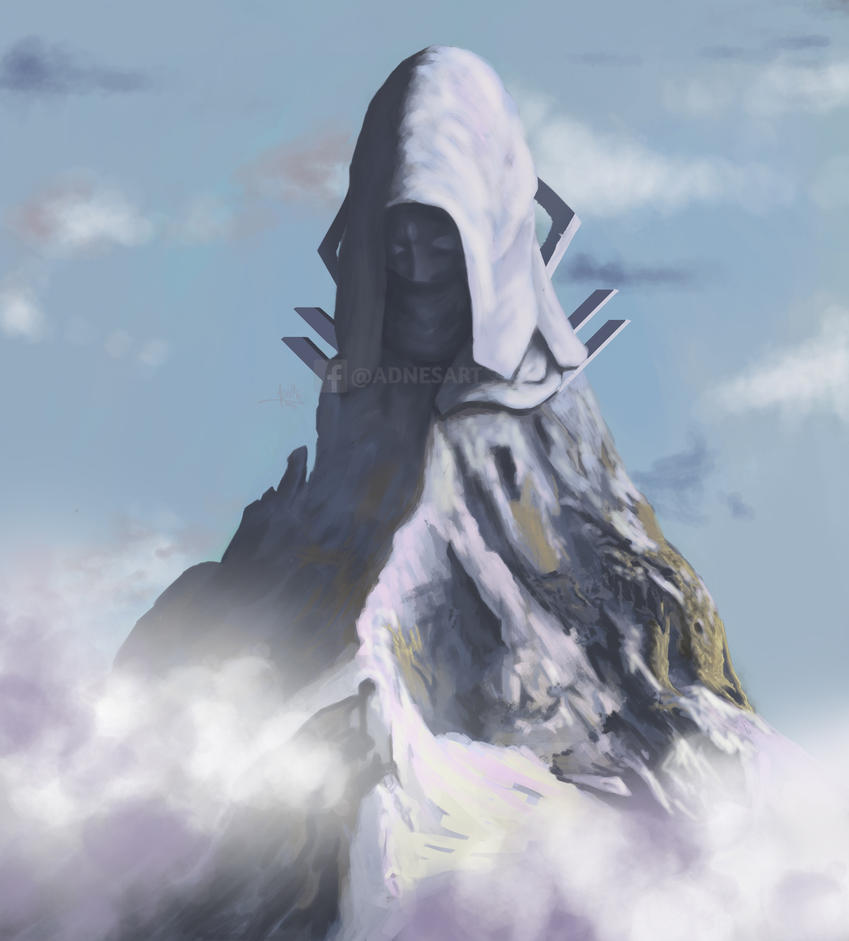 Mountain of the guardian by adnesart
