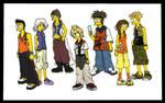 Twilight Town Kids- Simpsons