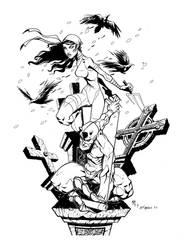 Daredevil and Elektra by billmeiggs