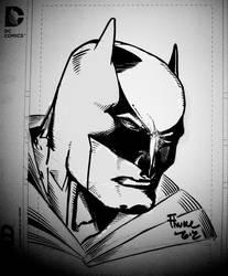 Batman inks over Finch by billmeiggs