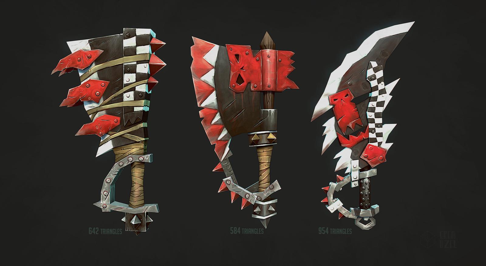 Warhammer Weapons by erenozel