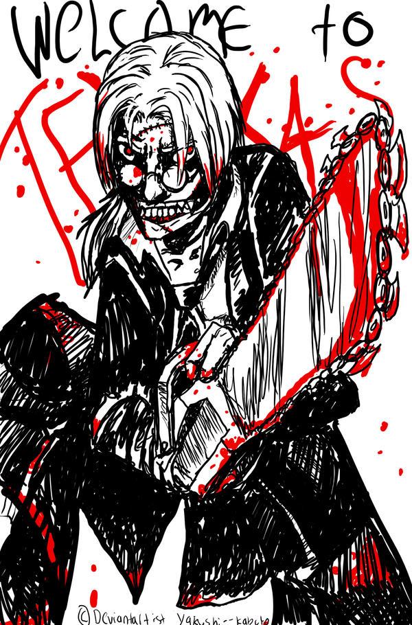 Kabuto and a Chainsaw by Yakushi--Kabuto