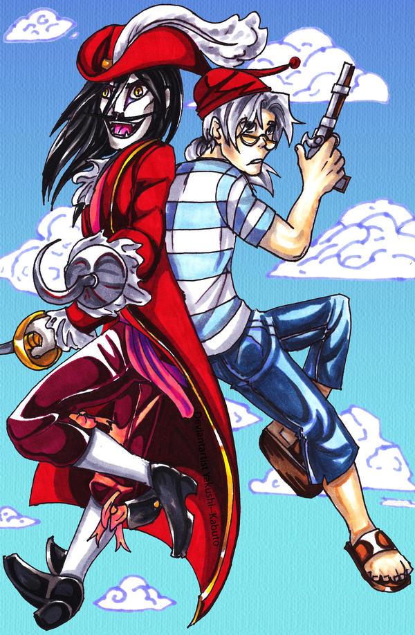 Kabuto n Orochimaru: PIRATES?!?! by Yakushi--Kabuto