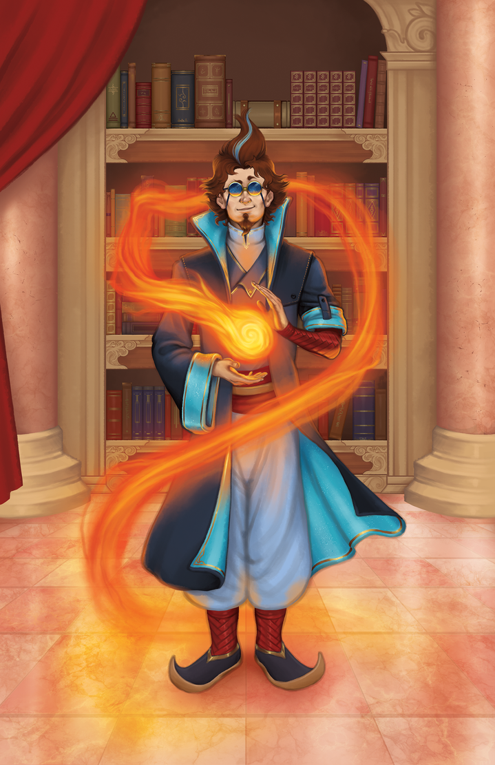 Arcanas Invos, High Council Archmage of Vyse by JimESC