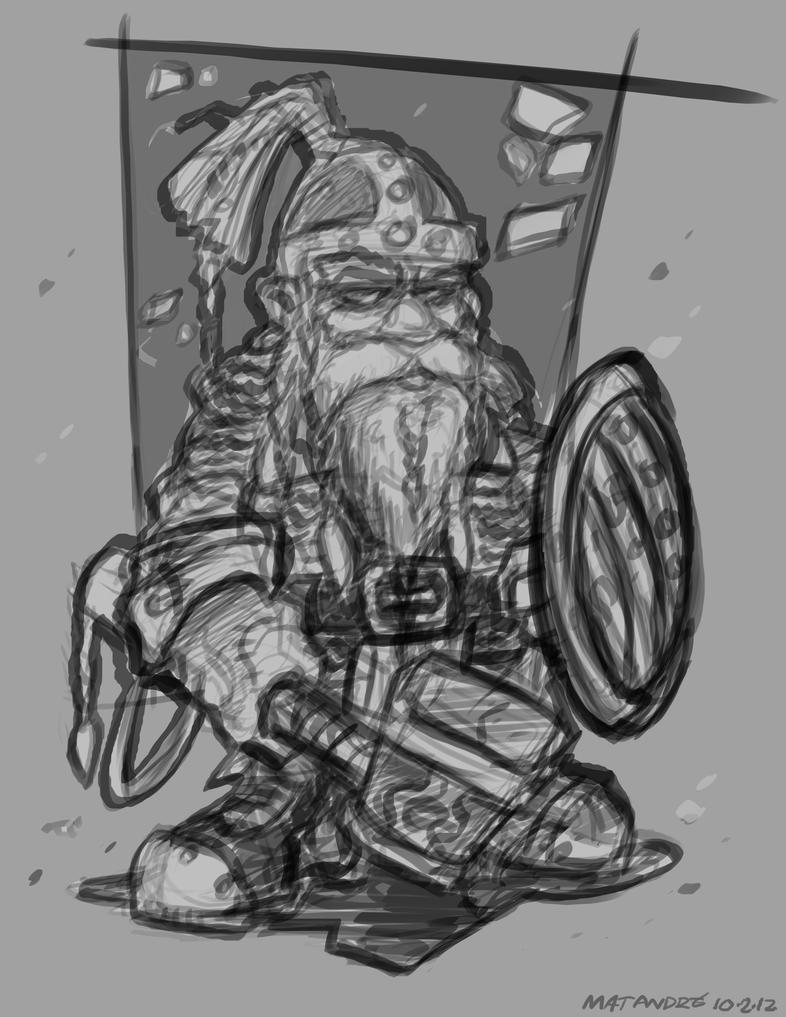 Dwarf Warrior by MatAndre