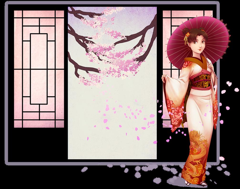 Comm -- Cherry Blossom Heaven by Miisu