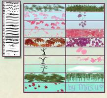 ( Hi-Res ) 19 Nature Brushes for Photoshop by Miisu