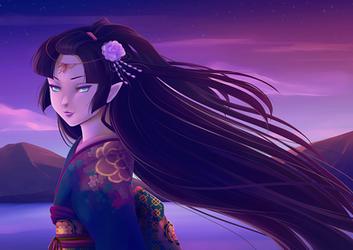 Iyori-hime by Miisu
