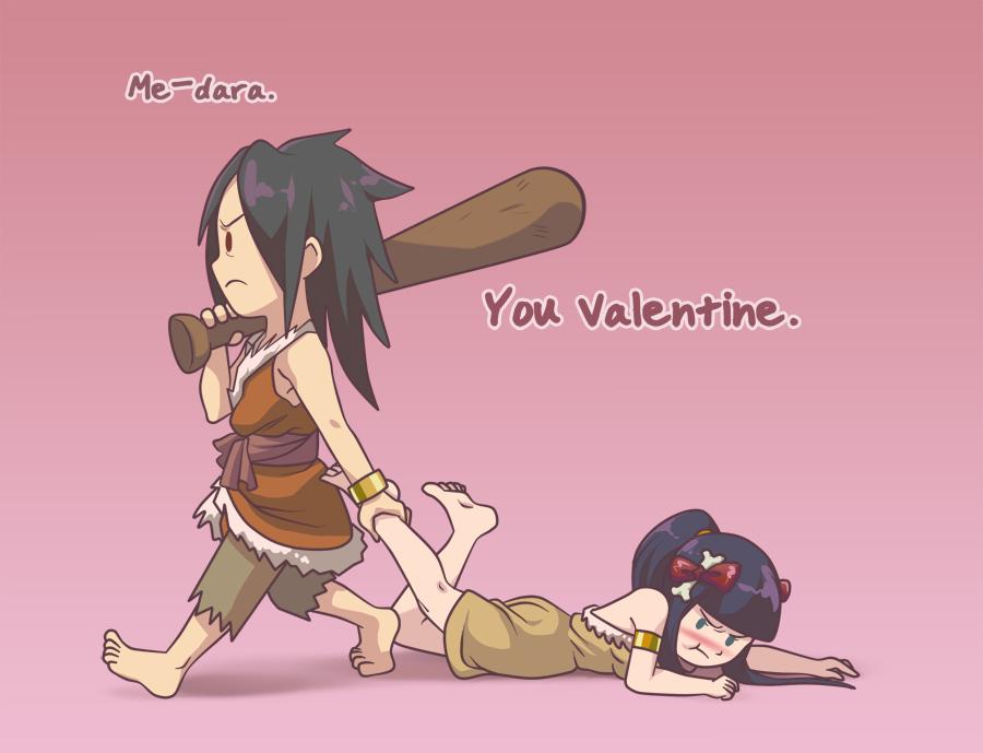 Caveman Speak -- Happy Valentine's by Miisu